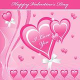 Valentine love hearts pink