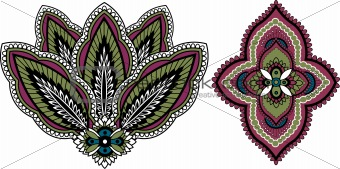 paisley style floral pattern