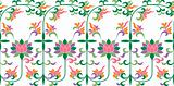 scroll floral embroidery lace pattern