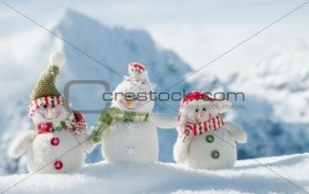 Amusing snowmen