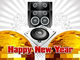 abstract musical new year background