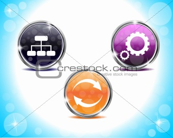 abstract shiny web buttons