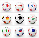 Set soccer ball