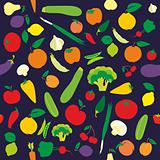 seamless pattern fruits and vegetables