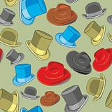 seamless pattern isolated hats