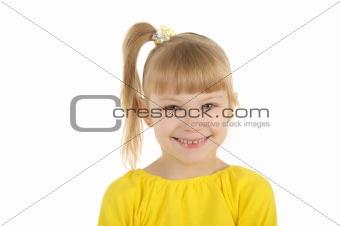 Beautiful little girl isolated