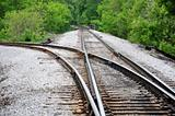 Railroad Tracks Cross