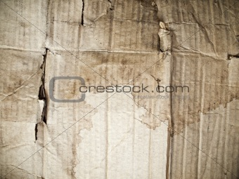 Crumpled card board