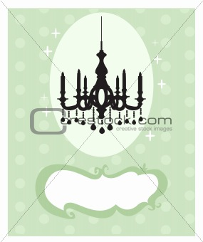 Chandelier silhouette card