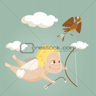 Cute cartoon cupid