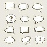 Set of vector speech bubble 