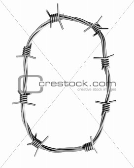 Barbed wire alphabet, O