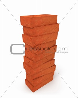 Tower of orange bricks
