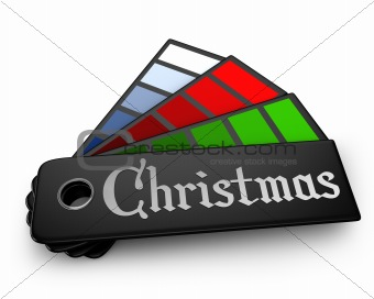 Christmas color palette isolated