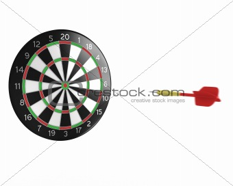 3D darts flying