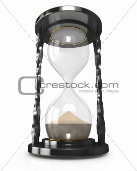 Black hourglass, time is up