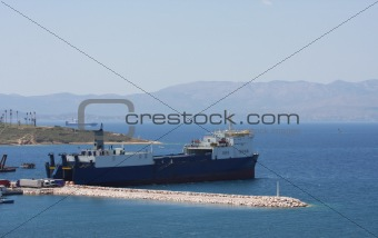 Cargo Ships in the harbour