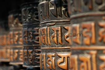 Tibetan buddhist prayer rolls