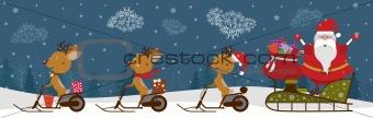 Santa with deers