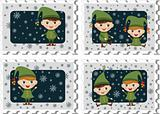 Stamps with elves