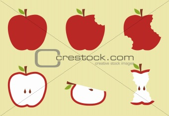 Red apple pattern illustration
