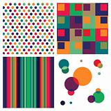 Retro colorful pattern combo.
