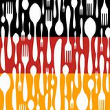 German Cuisine: Cutlery pattern on the country flag