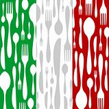 Italian Cuisine: Cutlery pattern on the country flag
