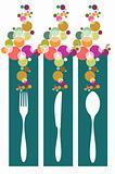 Cutlery contemporary pattern illustration