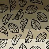 Leaves on degradé background