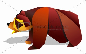 Origami bear illustration.
