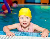 Child in a swimming pool