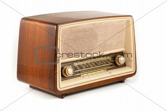 brown retro radio