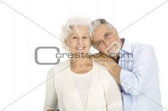 portrait of a happy couple of elderly