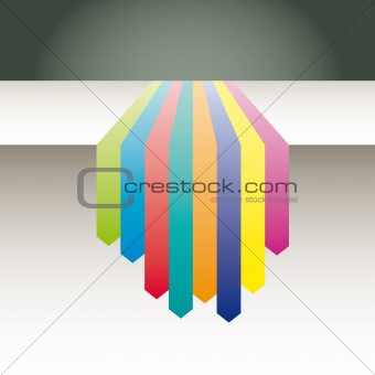 Arrows background vector abstract