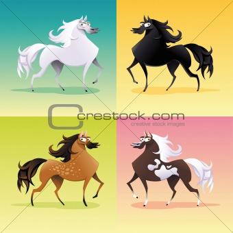 Family of horses.