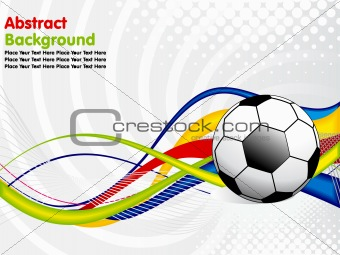 abstract football concept
