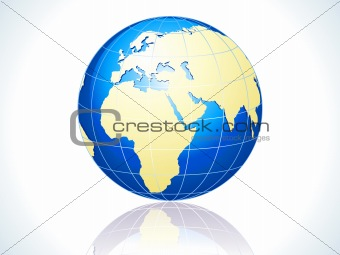 abstract glossy globe icon