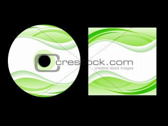 abstract green cd cover