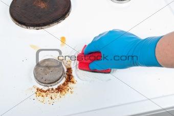 Cleaning gas glove kitchen