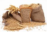 Bread with wheat and ears