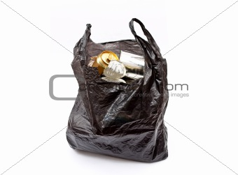 Black rubbish bag