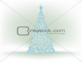 Abstract Blue christmas tree. EPS 8