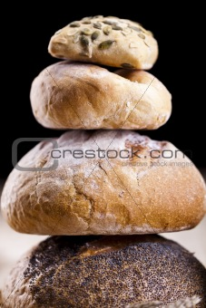 Bread products photographed
