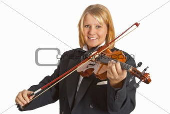 Beautiful female violinist