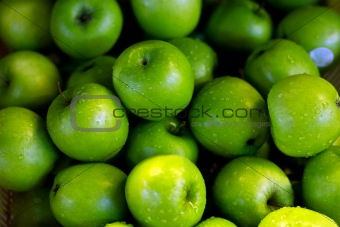 A lot of green apples