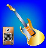Music tools guitar and amplifier