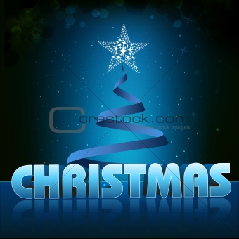 christmas card with xmas tree