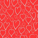 Valentine&#39;s day background with hearts