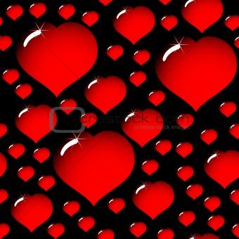 abstract elegance black background with hearts